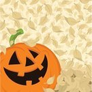 Pumpkin,Jack O' Lantern,Halloween,Autumn,Falling,Leaf,Backgrounds,Pumpkin Patch,October,Ilustration,Vector,Horror,Spooky,Smiling,Holidays And Celebrations,Fall,Halloween,Nature,Vegetable,Copy Space,Orange Color,Cultures,Illustrations And Vector Art