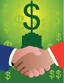 Merger,Currency,Dollar Sign,Handshake,Finance,Business,Wealth,Contract,Industry,Human Hand,Alliance,Stability,Winning,Labor Union,Hands Clasped,Gripping,Businessman,Communication,Success,Friendship,Greeting,Preparation,Partnership,Business Teams,Teamwork,Green Color,Concepts And Ideas,Global Communications,Illustrations And Vector Art,Retail,Growth,Planning,New Business,Men,Unity,Agreement,Business