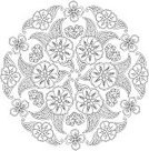 Abstract,Flower,Computer Graphics,Ornate,Template,Coloring,Illustration,Nature,Leaf,Single Flower,Outline,Cultures,Computer Graphic,Aubusson,Coloring Book,Symmetry,Floral Pattern,Mandala,Decoration,Backgrounds,Henna Tattoo,Vector,India,Pattern