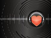 Heart Shape,Music,Headphones,Disco,Love,Sound,Retro Revival,Dance And Electronic,Rock and Roll,Romance,Backgrounds,Old-fashioned,Abstract,Audio Equipment,Single Object,Waving,Ilustration,Arts And Entertainment,Vector Backgrounds,Valentine's Day,Illustrations And Vector Art,Pattern,Vector,Equipment,Holidays And Celebrations,Shiny,Music