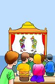 Child,Vertical,Audience,Puppet,Illustration,Theatrical Performance