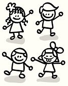 Little Boys,Child,Stick - Plant Part,Offspring,The Human Body,Preschool,Little Girls,Cartoon,Drawing - Art Product,Doodle,Line Art,Vector,Ilustration,Happiness,Child's Drawing,Student,Black And White,Cheerful,Characters,Outline,Pencil Drawing,Sketch,Scribble,Group Of People,Standing,Female,Smiling,Friendship,Positive Emotion,Caricature,Image,Looking,Illustrations And Vector Art,Male,Sticky,Brother,Lifestyle,Babies And Children,Sister,Looking At Camera,Ethnicity,Vector Cartoons,Families