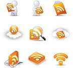 Computer Icon,Icon Set,rss,Internet,Cloud - Sky,www,Magnifying Glass,Vector,Eyeglasses,Color Image,Design Element,Vector Icons,Isolated,No People,Technology,Communications Technology,Communication,Illustrations And Vector Art,Concepts And Ideas,Web Feed