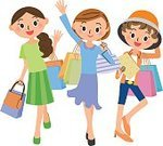 Adult,Salé City,Spending Money,Women,People,Lifestyles,Shopping,Illustration,Vector,Holiday - Event,Smiling