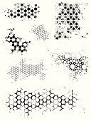 Pattern,Hexagon,Arabic Style,Dirty,Grunge,Vector,Black Color,Backgrounds,Black And White,Star Shape,Floral Pattern,Textured,White,Spray,Nature,Splattered,Stained,Wallpaper Pattern,No People,Set,Weathered,Illustrations And Vector Art,Small Group of Objects,Vector Backgrounds,Damaged