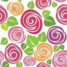 Rose - Flower,Pattern,Seamless,Floral Pattern,Repetition,Creativity,Vector,Beauty In Nature,Elegance,Arts And Entertainment,Arts Backgrounds,Vector Backgrounds,Illustrations And Vector Art,Design Element,Ornate,Romance,Decoration