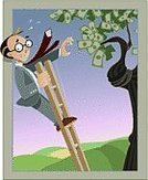 Falling,Money Tree,Ladder,Men,Currency,Banking,Downsizing,Cartoon,Debt,Finance,Financial Advisor,Bankruptcy,Home Finances,Businessman,US Paper Currency,Eyeglasses,Tie,One Dollar Bill,Business Concepts,Business Symbols/Metaphors,Business,Financial Crisis,White Collar Worker,financial market