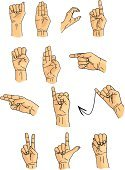 Sign Language,Human Hand,Deafness,Talking,Cartoon,Gesturing,Silence,Index Finger,Vector,Fist,Drawing - Activity,Pointing,Drawing - Art Product,Human Finger,Illustrations And Vector Art,People,Concepts And Ideas,Communication,Ilustration,Talk,Sound,Discussion