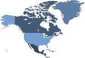 Map,USA,Canada,North America,Mexico,Vector,World Map,Ilustration,No People,Isolated On White