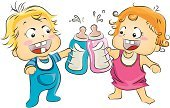 Baby,Cartoon,Celebratory Toast,Bottle,Milk,Ilustration,Clip Art,Child,Drink,Party - Social Event,Toddler,Facial Expression,15-18 Months,Cute,Art,Vector,Baby Bottle,Fun,Computer Graphic,Holidays And Celebrations,Babies And Children,Vector Cartoons,Lifestyle,Parties,Isolated,Celebration,Cut Out,Concepts,Illustrations And Vector Art