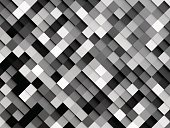 Abstract,Creativity,No People,Mosaic,Square Shape,Geometric Shape,Ornate,Illustration,Decoration,Backgrounds,Wall - Building Feature,Modern,Vector,Pattern,Gray,White Color,Black Color