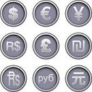 Chinese Yuan Note,Dollar Sign,Symbol,Indian Currency,Russian Rubles,Currency,European Union Currency,Euro Symbol,Circle,Insignia,Pound Symbol,British Pounds,Won Symbol,Korean Currency,Russia,Vector,British Currency,Brazilian Currency,Silver Colored,Religious Icon,Europe,Interface Icons,Gray,Business Concepts,Business Symbols/Metaphors,Vector Icons,Illustrations And Vector Art,Japanese Yen,Sign,Internet,Design Element,Business