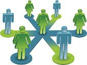 Partnership,Team,Teamwork,Communication,Leadership,Togetherness,Women,Symbol,Green Color,Men,Discussion,People,Female,Unity,Success,Global Communications,Blue,CEO,Manager,Male,Owner,Vector,Vector Icons,Achievement,Communication,Concepts And Ideas,Correspondence,Lime Green,Illustrations And Vector Art