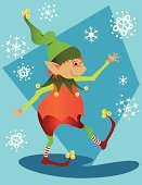 Elf,Christmas,Fairy,Snow,Child,Baby,Holiday,Party - Social Event,Toy,Mischief,Vector,Ilustration,Christmas Decoration,Magic,Gift,Winter,Greeting,Saint,Happiness,Cheerful,Joy,Snowflake,Night,Small,Smiling,Decoration,Wishing,Multi Colored,Celebration,Season,People,Concepts And Ideas,Nicholas,December,Illustrations And Vector Art,Character Traits,Style,carved letters,aciculum,one two three four