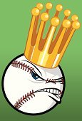 Baseball - Sport,Crown,Professional Sport,Sport,Baseballs,Cruel,Success,Competition,Gold Colored,Winning,Gold,Team Sports,Vector Cartoons,Sports Symbols/Metaphors,Sports And Fitness,Illustrations And Vector Art,Competitive Sport