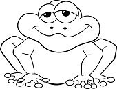 Froggy,Cut Out,Humor,Characters,Bizarre,Template,Doodle,Animal,Fun,Vector,Human Body Part,Cute,Frog,Human Face,Amphibian,Illustration,Coloring Book,Toad,Outline,Peeking,Line Art,Animal Wildlife,Cartoon,Joy,White Background,Black Color,Smiling,Sitting,White Color