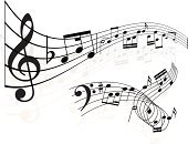 Musical Note,Music,Sheet Music,Treble Clef,Backgrounds,Vector,Composition,Illustrations And Vector Art