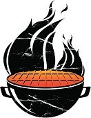 Barbecue Grill,Dirty,Flame,Grunge,Vector,Symbol,Ilustration,Isolated,Illustrations And Vector Art,charcoal grill