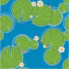 Water Lily,Lily,Seamless,Fish,Pattern,Vector,Sewing Pattern,Blue,Green Color,Ilustration,Vector Florals,Vector Ornaments,Vector Backgrounds,Illustrations And Vector Art,Environmental Conservation,Effortless