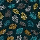 No People,Tropical Climate,Plant,Ornate,Illustration,Nature,Leaf,Autumn,Seamless Pattern,Botany,Season,Backgrounds,Blue,Pattern,Floral Pattern,Yellow