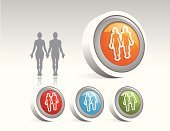 Disc,People,Silhouette,Beauty,Computer Icon,Adult,Illustration,Icon,Cartoon,Men,Women,Vector,The Human Body,Illustrations And Vector Art