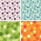 Fun,Backgrounds,Flower,Pattern,Seamless,Floral Pattern,Repetition,Blue,Orange Color,Bright,Sparse,Purple,Vibrant Color,Effortless,Pink Color,Summer,Simplicity,Happiness,Set,Green Color,Variation,Outline,Petal,Blossom,Yellow,Wallpaper Pattern,Vector Florals,Primitivism,Vector Backgrounds,Nature,Botany,Illustrations And Vector Art,Flowers