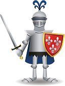 Knight,Suit of Armor,Cartoon,Shield,Warrior,Middle Ages,Costume,Vector,The Crusades,Work Helmet,Protection,Nobility,Ilustration,History,Battle,Sword,Cape,Vector Cartoons,Coat Of Arms,Illustrations And Vector Art