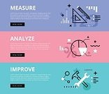 Web Banners,Analyze Business,Authority,No People,Pie Chart,Banner,Geometric Shape,Hammer,Pencil,Illustration,Banner - Sign,Infographic,Ruler,Arrow Symbol,Wrench,Bar Graph,Diagram,List,Star Shape,Vector,Percentage Sign