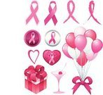 Breast Cancer Awareness Ribbon,Breast Cancer,Ribbon,Pink Color,Alertness,Balloon,Heart Shape,Symbol,Design Element,Martini,Social Awareness Symbol,Vector,Computer Icon,Clip Art,Pattern,Gift,Design,Interface Icons,Ilustration,Peace Symbol,Vector Cartoons,Vector Icons,Illustrations And Vector Art,Shiny