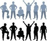 People,Image,Motion,Looking At Camera,Silhouette,Teenager,Young Adult,Outline,Illustration,Teenage Boys,Vector,Teenagers Only,Illustrations And Vector Art
