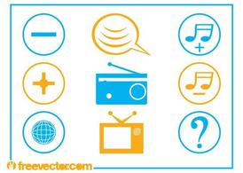 Communication And Tech Icons