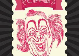 Vintage Circus Vector Clown
