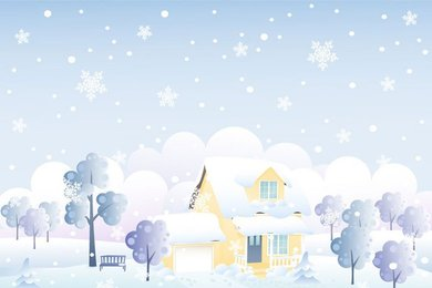Free vector about winter background vector-3