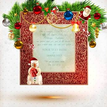 Beautiful Christmas theme elements vector-5