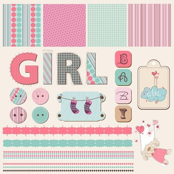 Cute Child Element Vector 3
