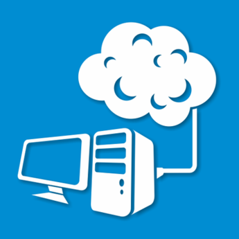Abstract Desktop PC Connected to the Cloud