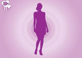 Purple Woman Silhouette