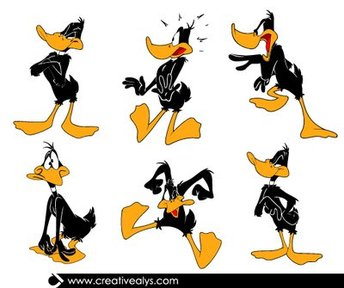 Funky Daffy Duck Cartoon Pack