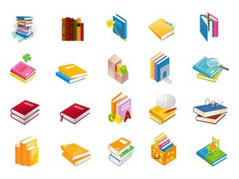 Book Series icon vector material of the 9