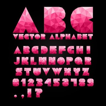 Colorful Letters And Numbers 03