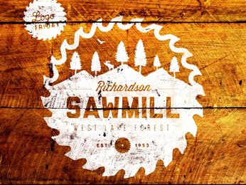 Vintage Sawmill Badge