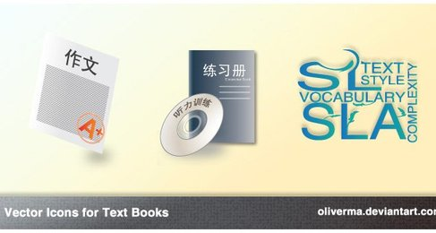 Text Book Icons