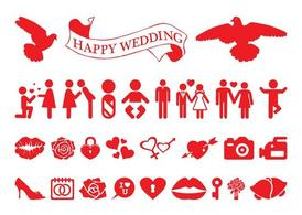 Love And Marriage Icon Set