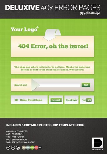 Free PSD Error Pages