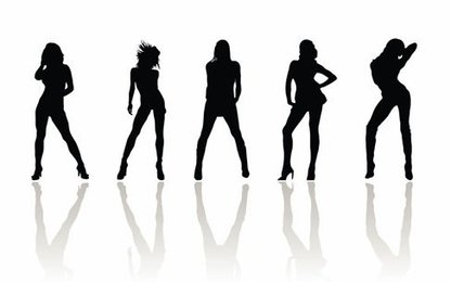 Vector Beauty Woman Silhouettes