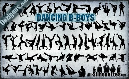 69 Vector Dancing B-boys