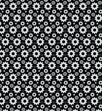 Simple Free Gear Seamless Vector Pattern