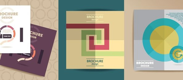 5 Modern Brochure Covers Vector Set
