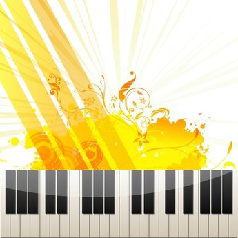 Piano Keys on Abstract Background