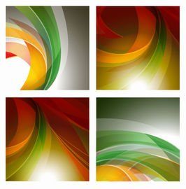 4 Backgrounds with Rounding Colorful Stripes